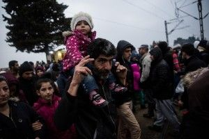 More than 7000 migrants and refugees stranded near the Greek village of Idomeni in the Greek -  FYR of Macedonia border on February 29, 2016.