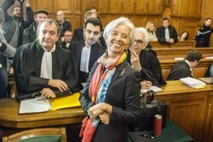 epaselect epa05672498 International Monetary Fund (IMF) Managing Director and former Economy Minister Christine Lagarde appears in court at the Plais de Justice, in Paris, France, 12 December 2016. France's highest appeals court ordered on 22 July 2016 Lagarde to stand trial over a state payout to Bernard Tapie. Lagarde was charged for negligence over awarding more than 400 million euro during her time as economy minister in 2008.  EPA/CHRISTOPHE PETIT TESSON