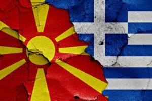 flags of Macedonia and Greece painted on cracked wall, Image: 318985455, License: Rights-managed, Restrictions: , Model Release: no, Credit line: Profimedia, Alamy